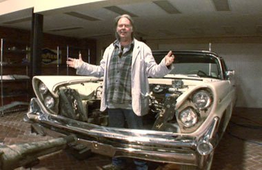 Neil Young in the Linc Volt