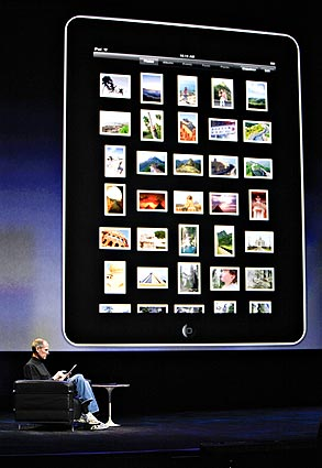 Steve Jobs shows off new Apple iPad January 27, 2010